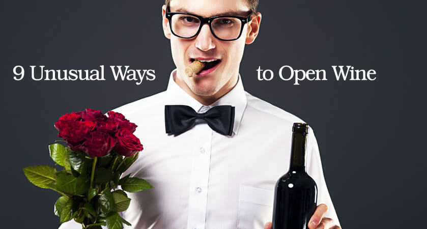 How to open a wine bottle without a corkscrew - 9 Unusual Ways