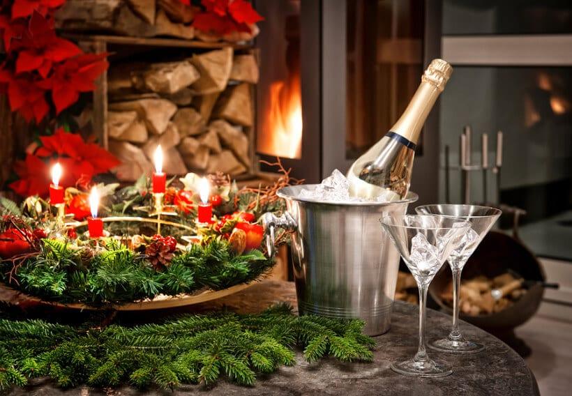 Christmas Brunch Poinsettia Cocktail