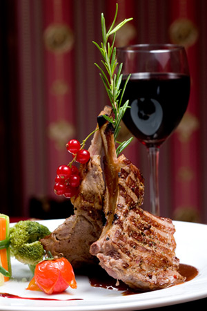 Red Wine Paired with Meat