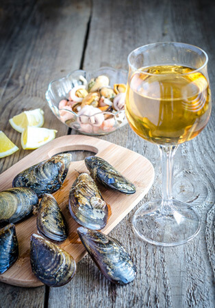White Wine Paired with Food