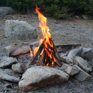 make a teepee campfire