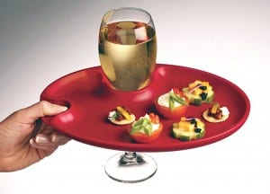 Appetizer Wine Plates