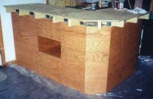 all panels installed on the front of the home bar