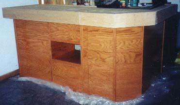 DIY home bar taking shape!