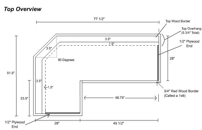 Home Bar Plans Layout Diagram