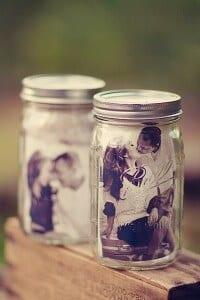 Mason Jar Picture Frame