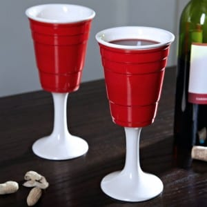 Red Cup Wine Glass Set