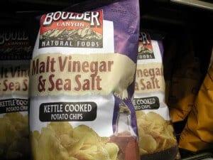 Salt and Vinegar Chips Hot Dog Topping