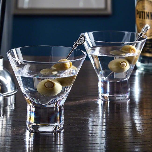 Shot of low calorie gin martini