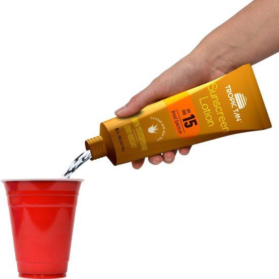Secret Boozy Sunscreen Flask