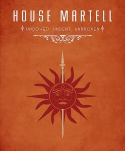 Game of Thrones House Martell
