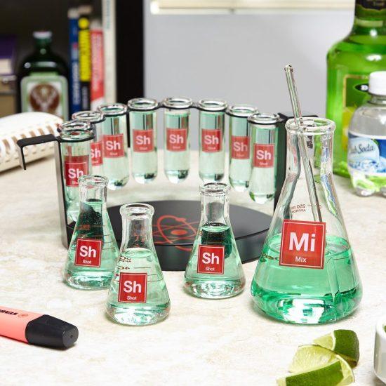 Mad Scientist Shot Glass Bar Set