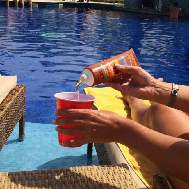 Sunscreen Flasks for Sneaking Liquor