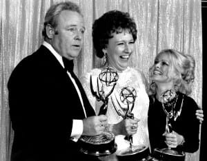 Jean Stapleton with her TV family