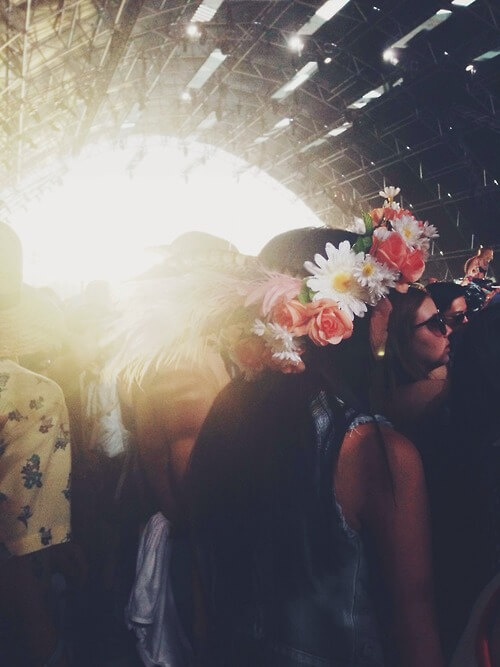 Flower Crown with Hidden Alcohol