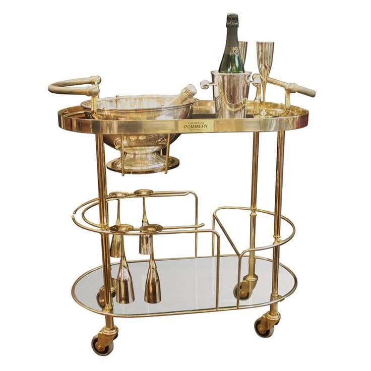 Brass Bar Cart