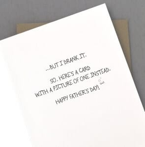 Funny Father's Day Card - Wine Gifts for Men