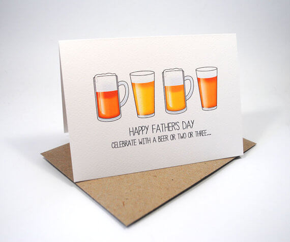 Funny Cards for Dad - Beer Gifts for Men
