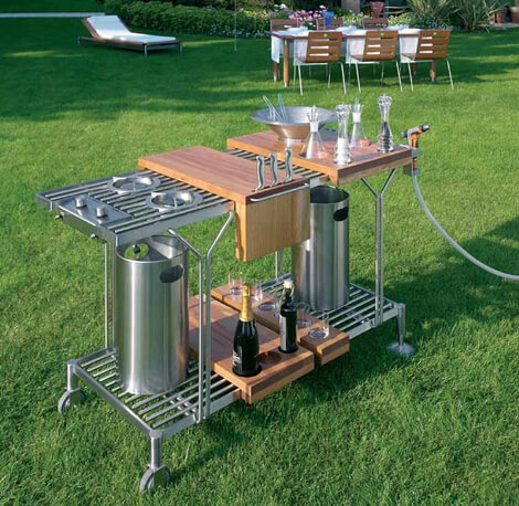 All In One Outdoor Bar Cart