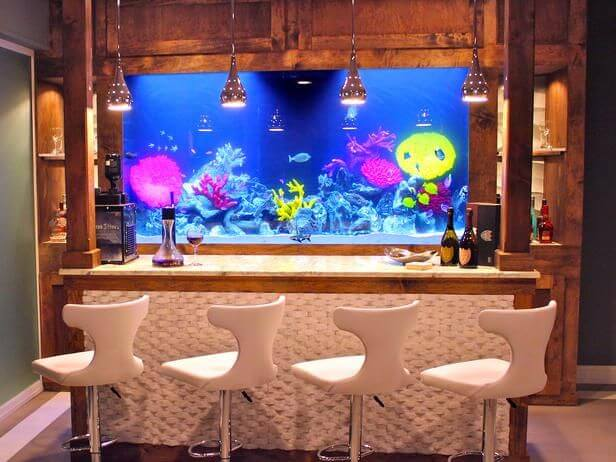 For Those Who Drink Like A Fish, Look Into Integrating Some Fish Friends  Into Your Home Bar Ideas.