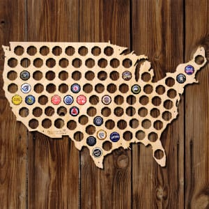 Beer Cap Map - Awesome Bar Decoration