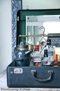 Suitcase Bar - Great for Small Apartment Bars