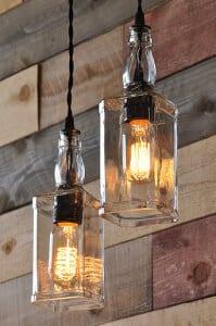Whiskey Bottle Lighting Bar Ideas