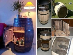 wine barrel bar plans. DIY Home Bar Wine Barrel Cabinet Plans