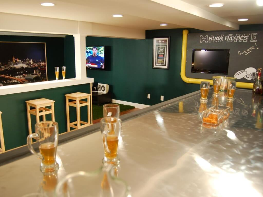 It's like a sports bar at home!
