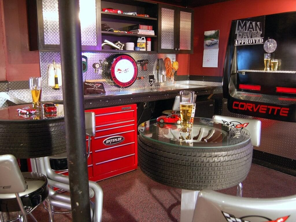 Great Ideas for Man Cave or Garage Bar
