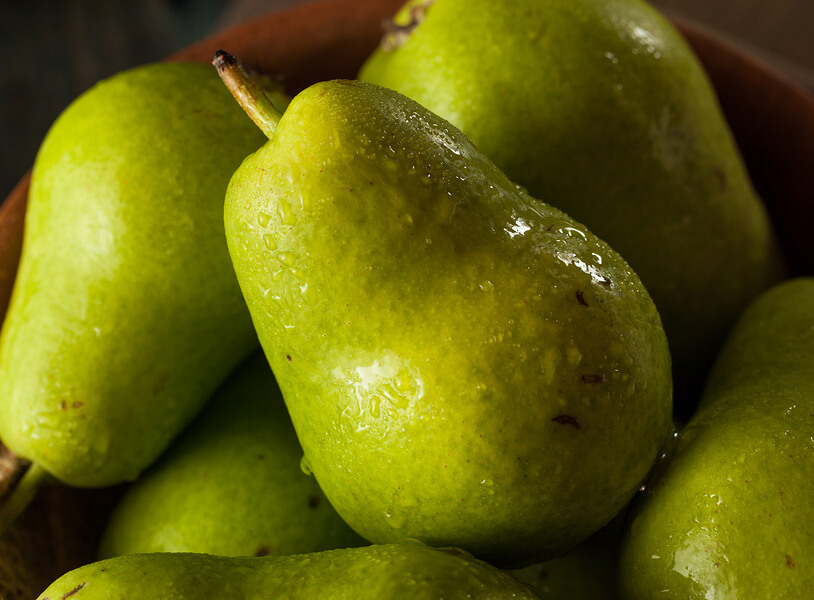 Green Pears for Martini Cocktails