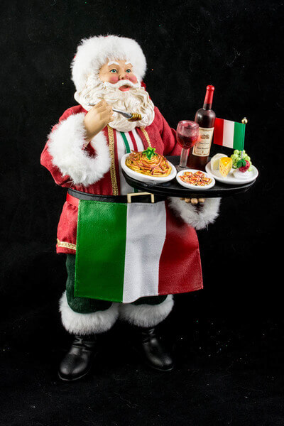 Santa Claus Drinking Wine
