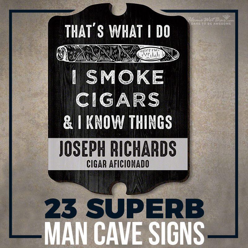 23 Superb Man Cave Signs