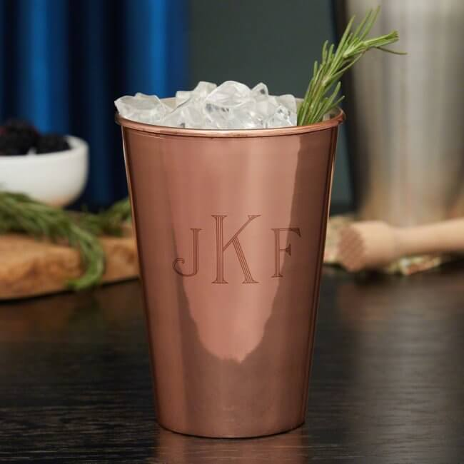 Monogrammed Copper Cup