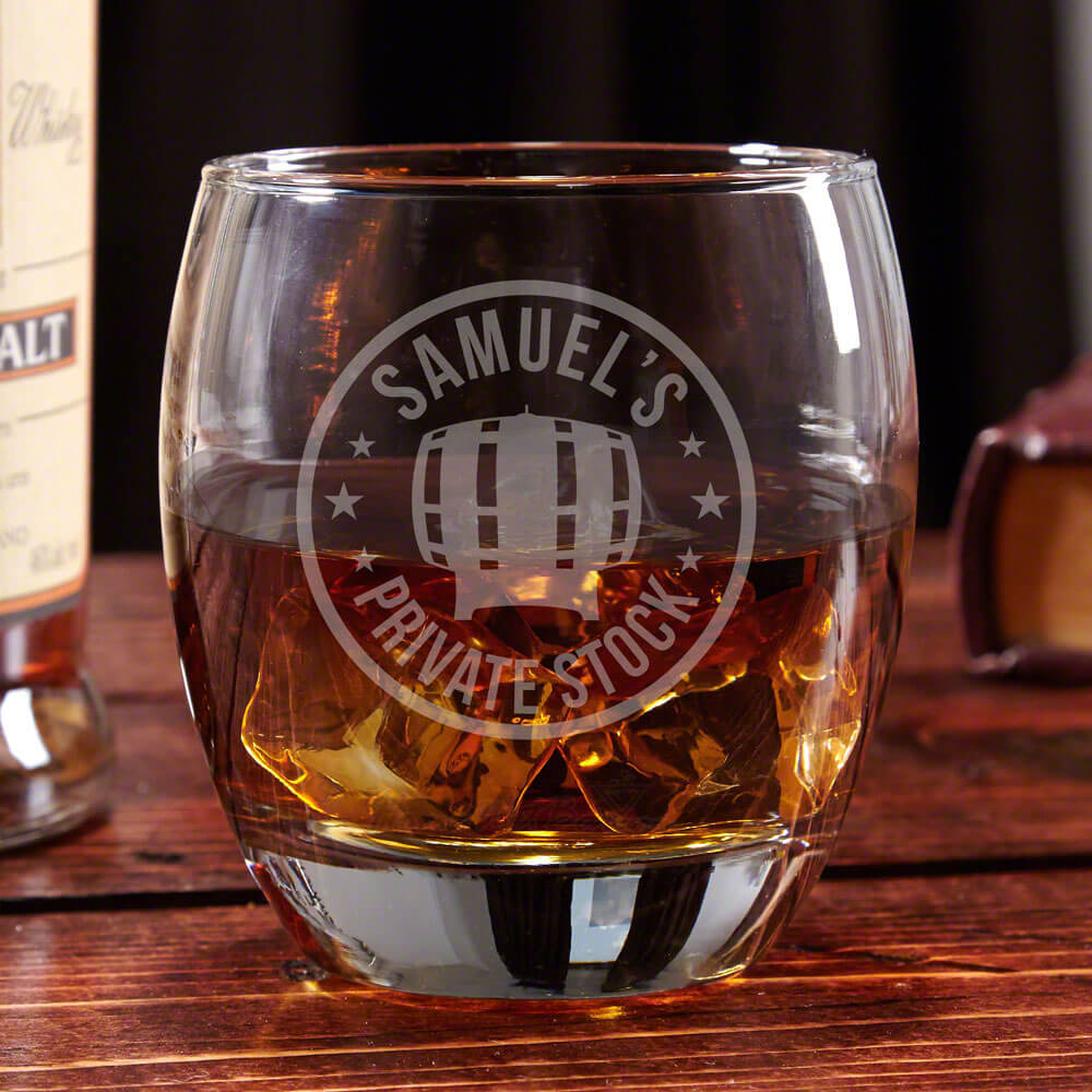 Personalized Bourbon Glass