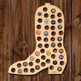 Cowboy Boot Beer Cap Map