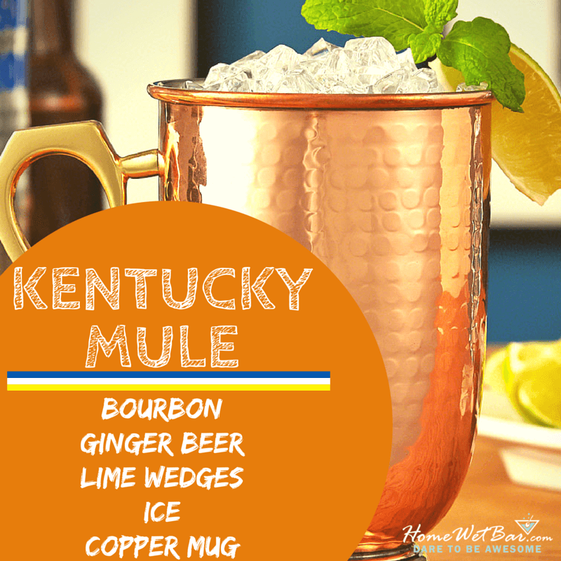Ingredients for a Kentucky Mule