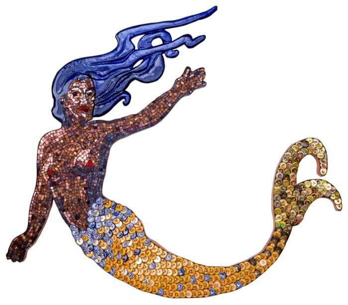 Mermaid Bottle Cap Art