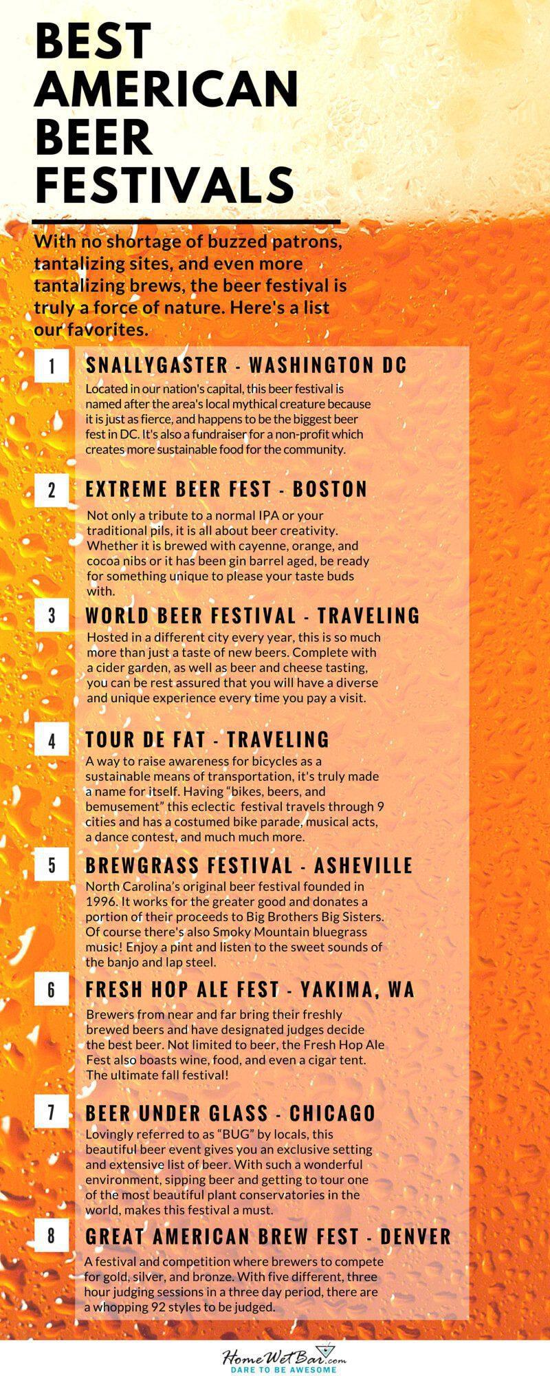 Best American Beer Festivals Infographic