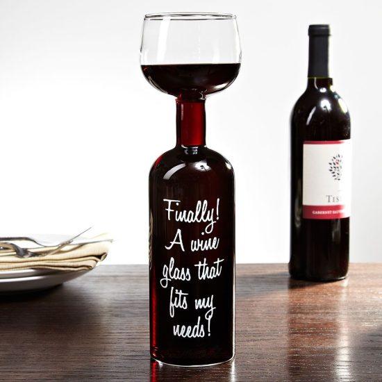 Giant Wine Bottle Glass