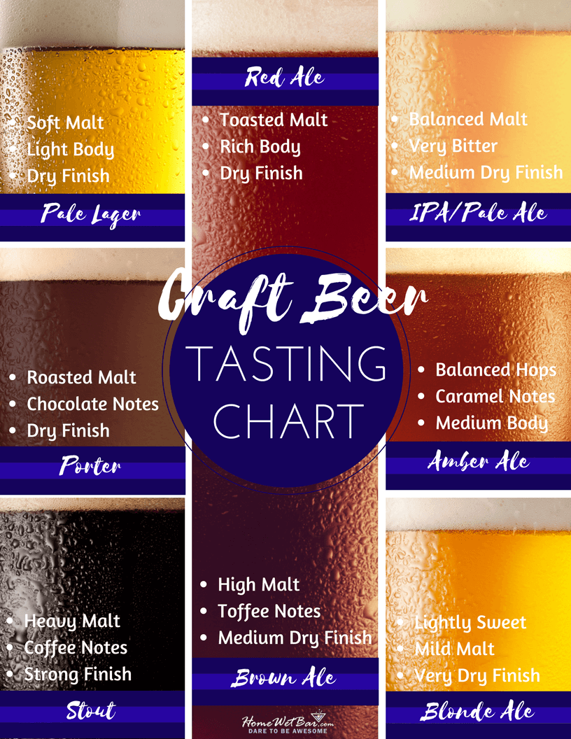 Craft Beer Tasting Chart