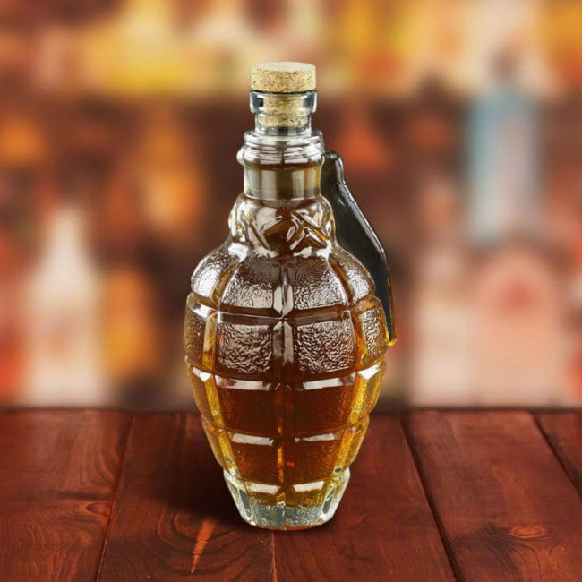 Grenade shaped decanter