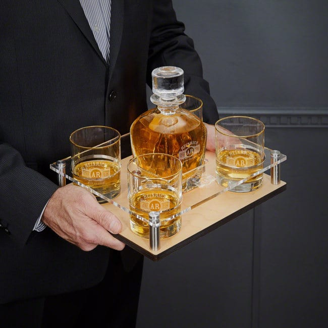 Whiskey Decanter Presentation Set
