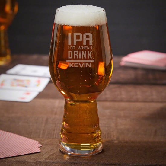 IPA a Lot Funny Glass