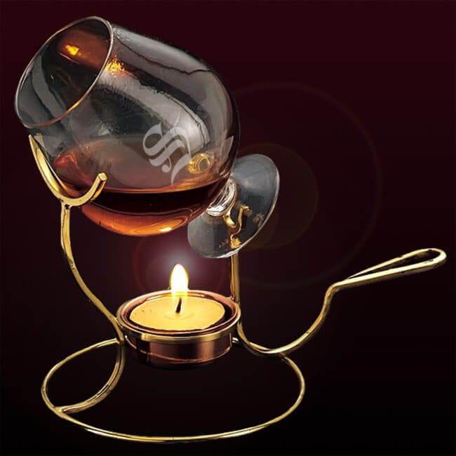 A Brandy Balloon and Warmer
