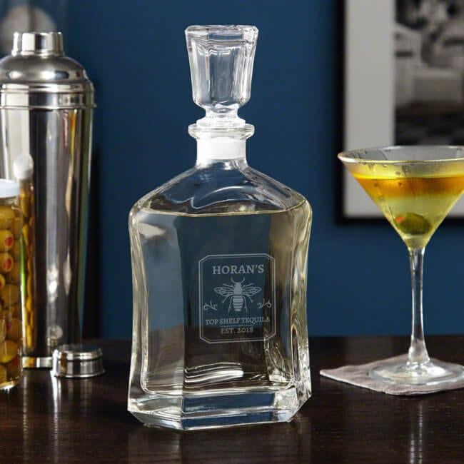 Personalized Tequila Decanter