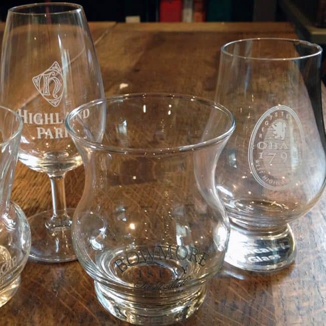 Tulip Shaped Whiskey Glasses