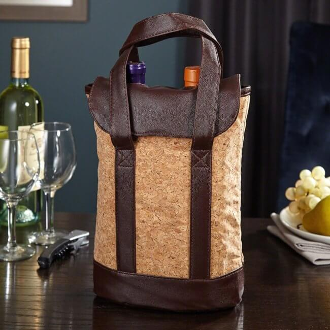 Natural Cork Wine Tote