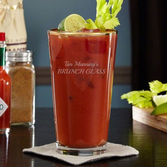 Gold Rimmed Bloody Mary Glass