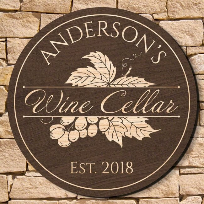 Wooden Wine Cellar Sign